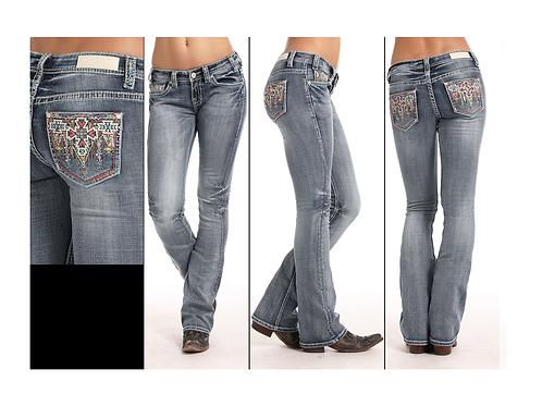 Rock & Roll Denim Multi Aztec Wash-Out Jeans