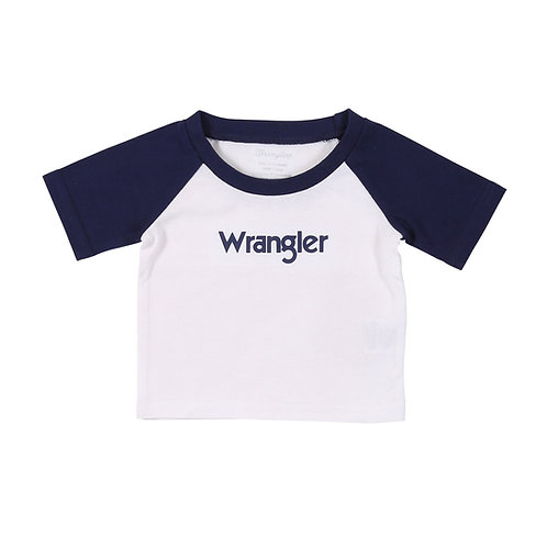 Wrangler Infant Signature White & Navy T-Shirt