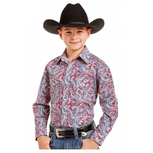 Boy's Panhandle Ferintino Vintage Western Shirt