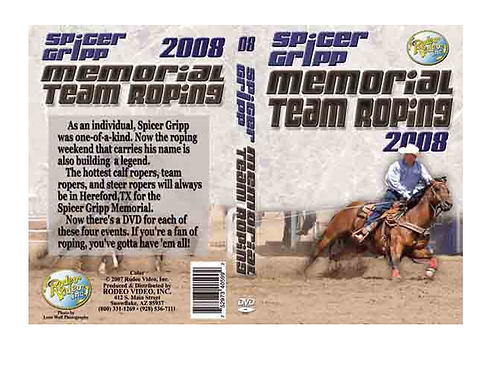 Spicer Gripp 2008 Memorial Team Roping **USED DVD**