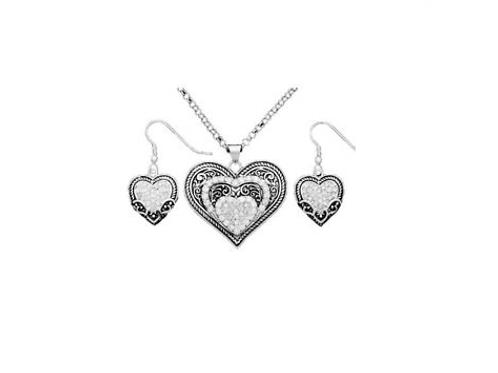 Montana Silversmith Heart in Heart Set