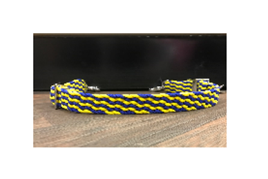 Double H Blue/Yellow Wither Strap