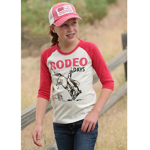 Cruel Girl Red 'Rodeo Days' Baseball Tee