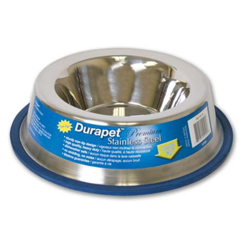Durapet Stainless Steel Non Tip Bowl - Small