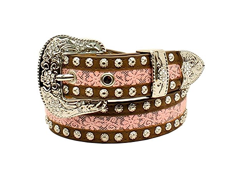 Ariat Studded Pink Lace Belt