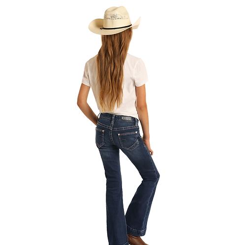 Girls Panhandle Dark Wash Trouser Jean