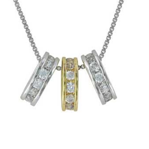 Montana Silversmith 3 Ring Necklace Gold/Silver