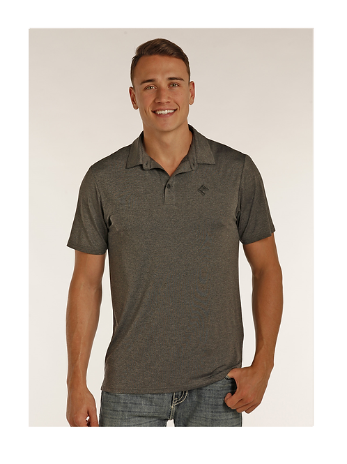 Rock & Roll Cowboy Grey Polo Shirt