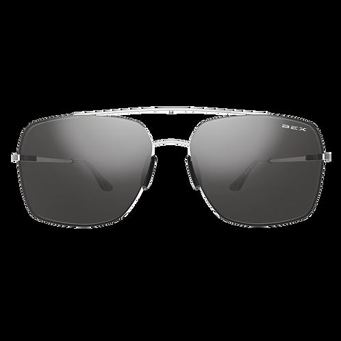 BEX Pilot Sunglasses - Silver Frame, Gray Lens