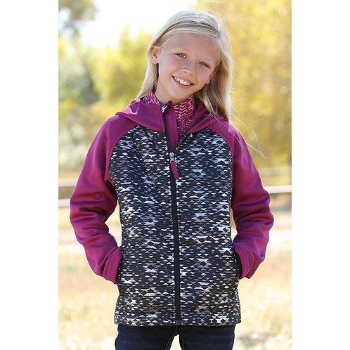 Cruel Girl Pink Aztec Metallic Quilted Jacket