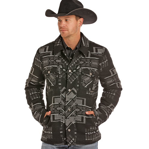Powder River Outfitters Grey Aztec Wool Jacket