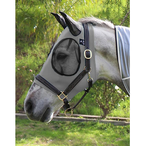 Professional's Choice Lycra Fly Mask - Charcoal