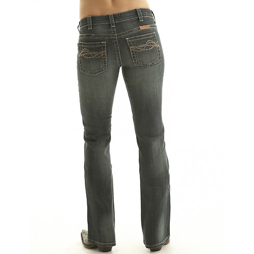Cowgirl Tuff Don't Fence Me In Dark Wash Jeans
