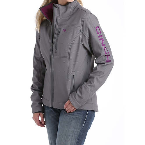Cinch Grey & Purple Chevron Fall Jacket