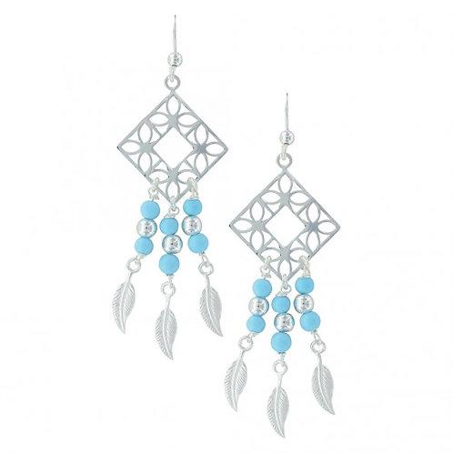 Montana Silversmith ER2895 Diamond Feather Dangle Earrings