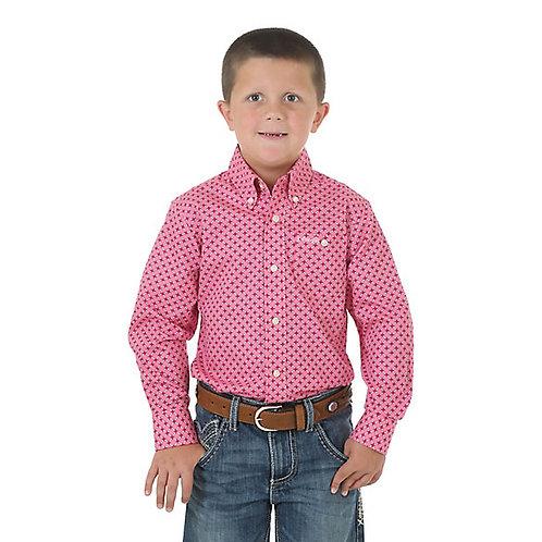 Boy's Tough Enough to Wear Pink Western Shirt
