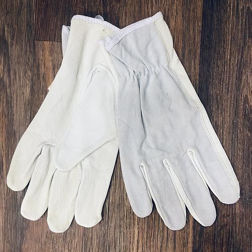 Deluxe Spit Back Grey Unlined Gloves
