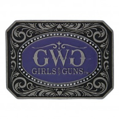 Attitude Purple Girls With Guns Buckle