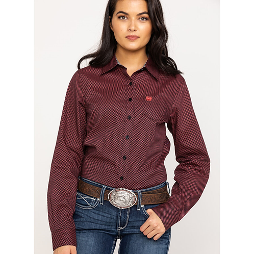 Cinch Black & Burgundy Western Shirt