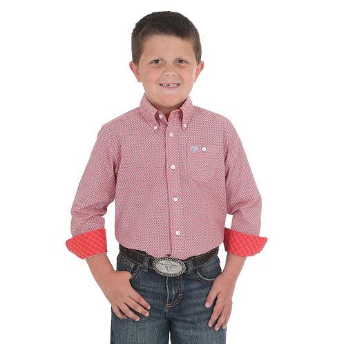 Wrangler Orange Diamond Western Shirt