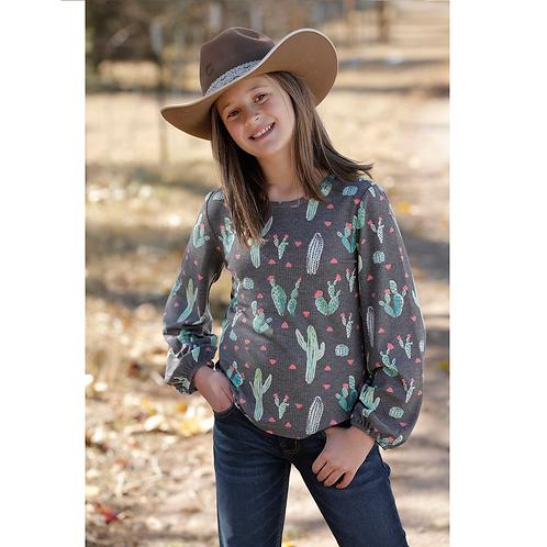 Cruel Girl Long Sleeve Cactus Top