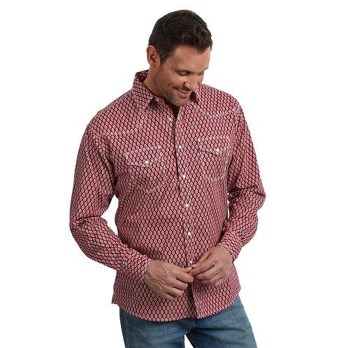 Wrangler Red & Black Double Diamond Western Shirt