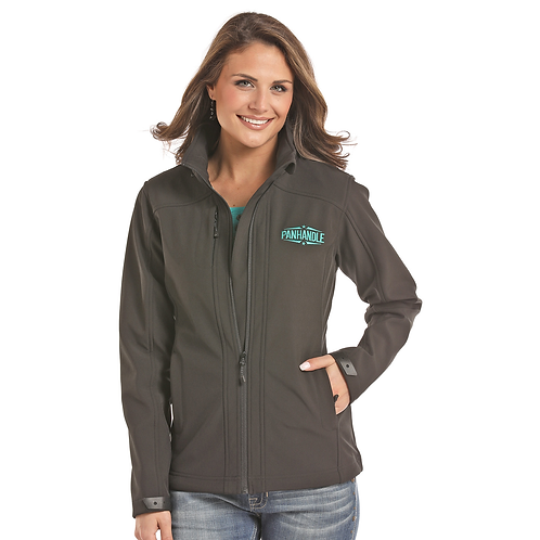 Panhandle Black & Turquoise Soft Shell Jacket