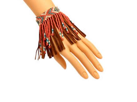 Blazin Roxx Coral Fringe Beaded Anklet/Bracelet