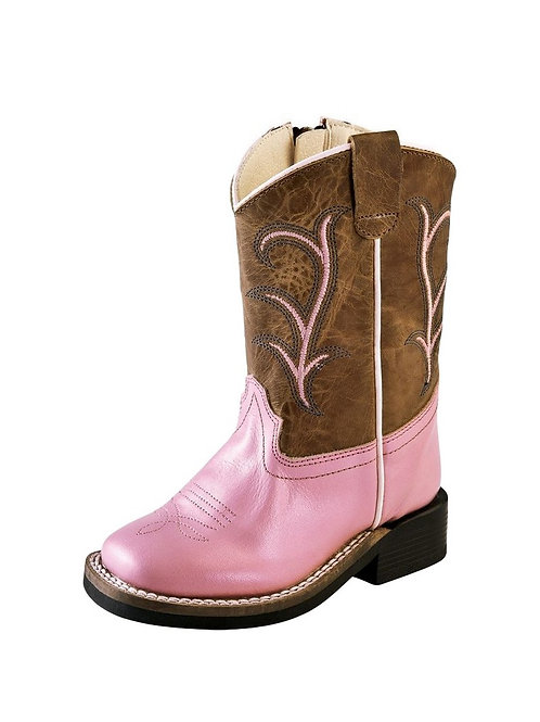 Old West Silver & Pink Boot