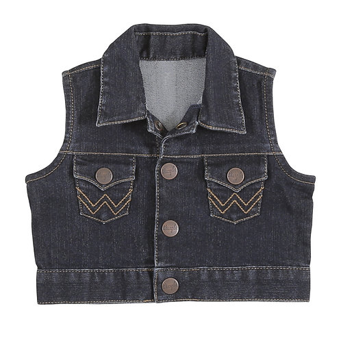 Wrangler Infant Dark Wash Denim Vest