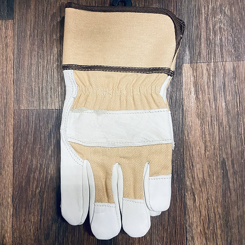 Deluxe Grain Cowhide Palm Lined Tan Gloves