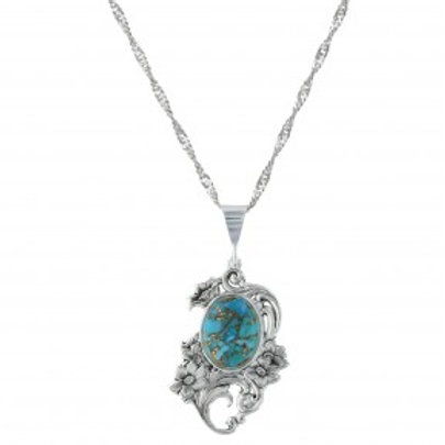 Blue Earth Posy Necklace