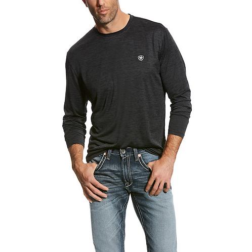 Men's Ariat Charcoal Charger Long Sleeve Shirt