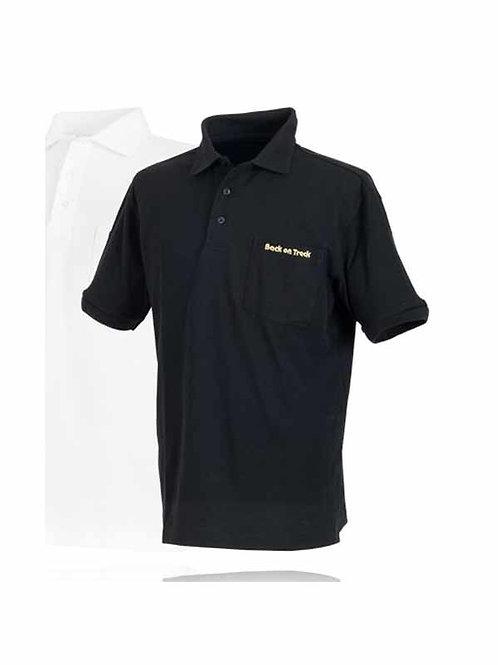 Back On Track Men's Polo Shirt - Black