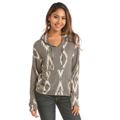 Panhandle Grey Aztec Loose Pull Over