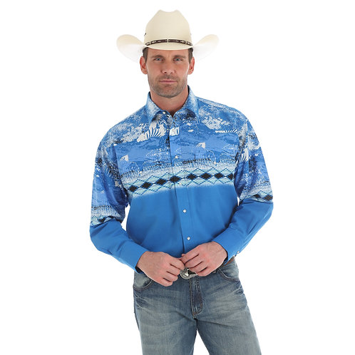 Wrangler Chicotah Royal Western Shirt