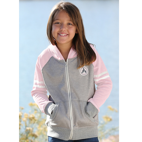 Cinch Pink & Grey Zip Up Hoodie