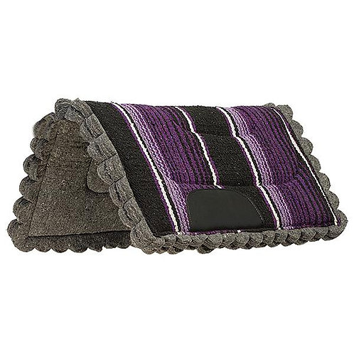 "Weaver Scalloped Navajo 23x23"" Pony Pad - Purple"
