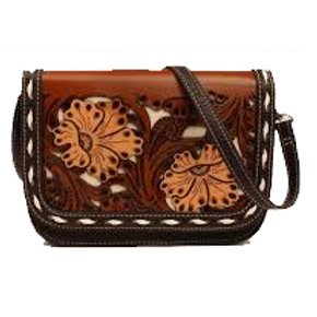 Blazin Roxx Floral Buckstitch Crossbody Bag