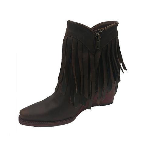 Johnny Ringo Chocolate Fringe Boots