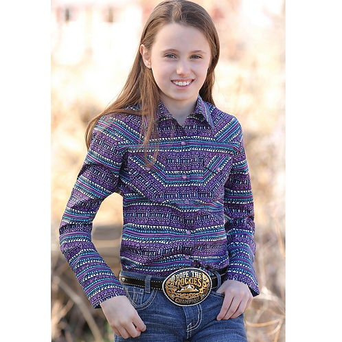 Cinch Purple Pattern CTW3230006 Western Shirt