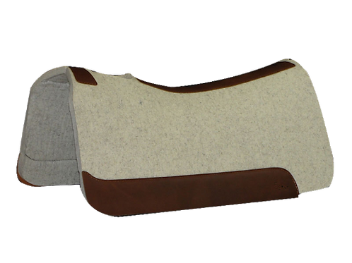 "5 Star 7/8"" Roper Pad 32""x30""- Natural with Brown Leathers"