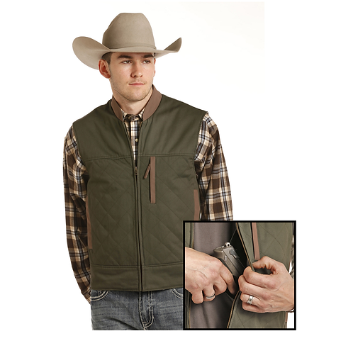 Powder River Outfitters Army Green Vest