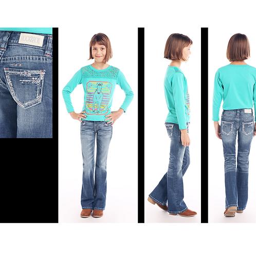 Rock & Roll Denim Subtle Coral Arrow Jeans