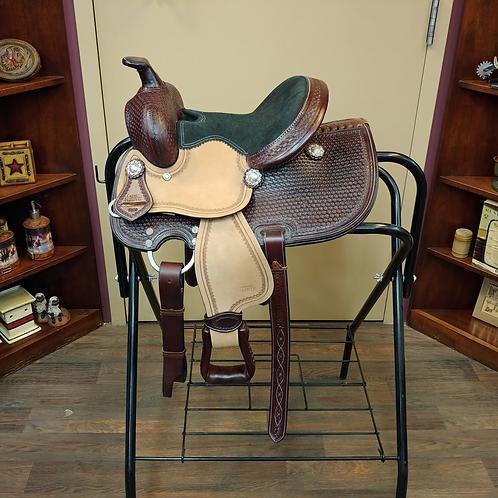 "TN Chocolate Basketweave 10"" Saddle"