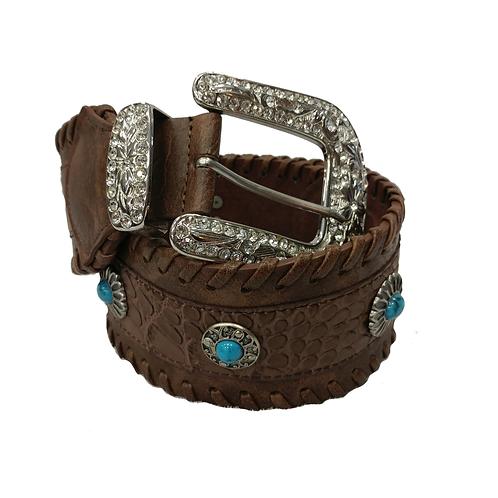 Brown Laced Wide Fashion Belt