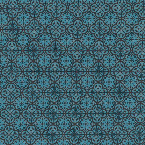 Wrangler Brown & Turquoise Print Western Shirt