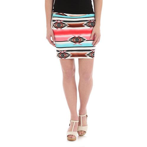 Wrangler Jade Aztec Pencil Skirt