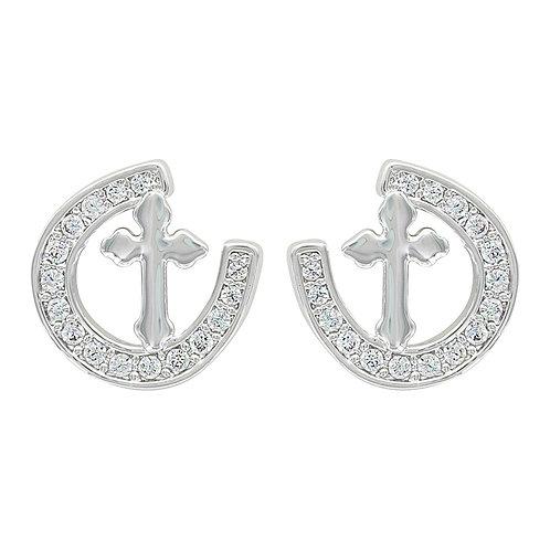Montana Silversmith Tilted Cross Earrings ER3435