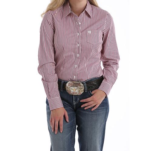 Cinch Cranberry Pin Stripe Western Shirt